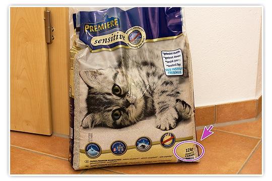 12 kg ist ein Sack Katzenstreu