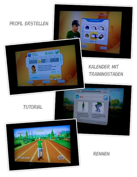 Screens vom Wii Spiel Personal Trainer
