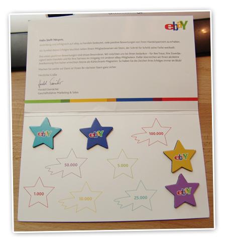 Magnetsterne von ebay blogwiese - Ebay sterne ...