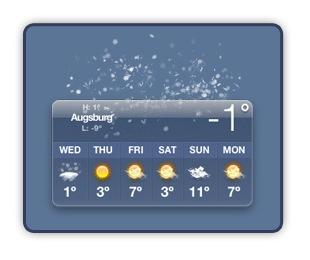 Sreen - Widget für Wetter