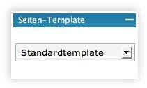 Seiten Template im Adminbereich