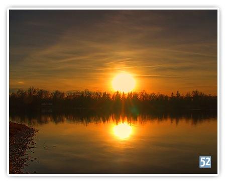Woche 14 - Sonnenuntergang