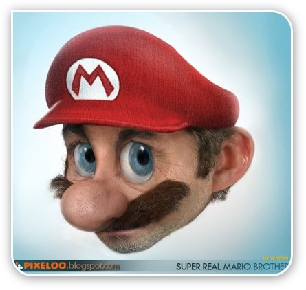 Mario von Nintendo in Real