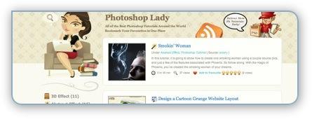 PhotoshopLady mit Photoshop Tutorials