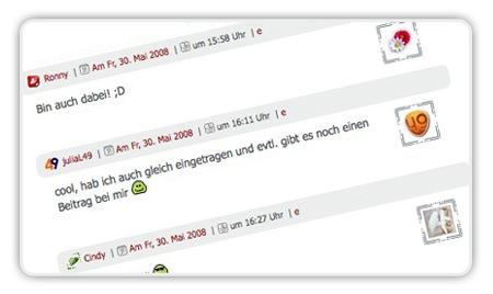 Screenshot der Kommentare mit Gravatar