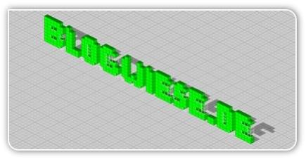 Blogwiese.de in 3D Pixeln