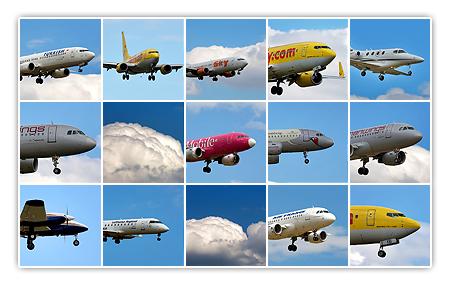 Flugzeuge in der Vorschau