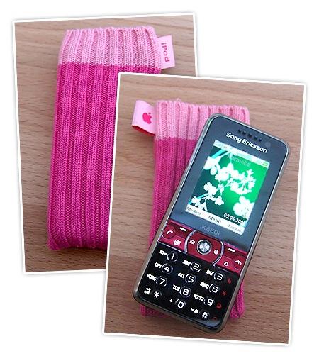 Mein Handy mit Kondom in Pink