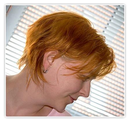 Aschige blonde Haarfarbe
