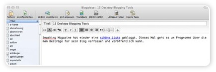 Ecto - Blogging-Software