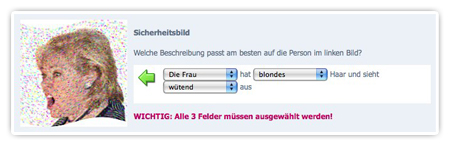 Captcha bei Beepworld