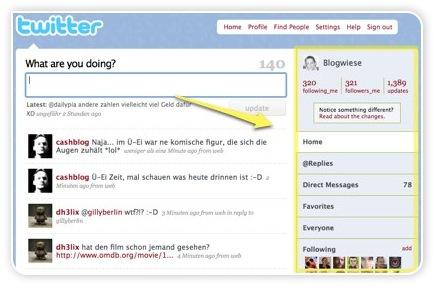Twitter Profilseite