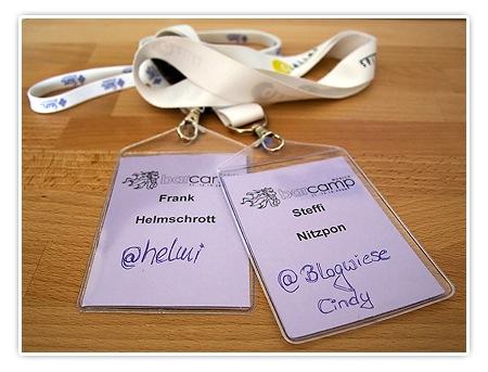 BarCamp Munich 08 - Ausweis