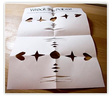 So sollte das Wreck this Paper ausschauen um teilnehmen zu können