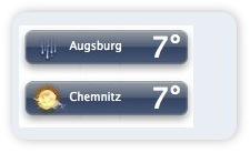 Wetter Plugin mit zwei Städten