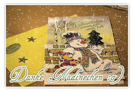 Weihnachtsfanpost von Nadinechen