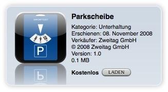 kostenloses App - Parkscheibe