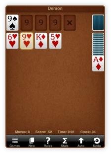 iPhone Spiel kostenlos - Sol Free Solitaire
