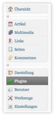Icons im Adminbereich