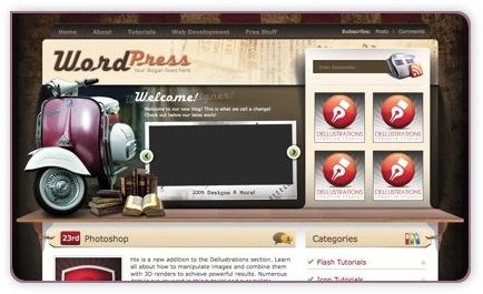 kostenloses wordPress Theme Vintage