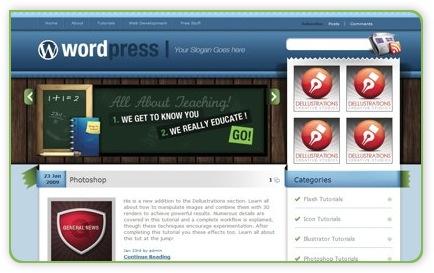 kostenloses WordPress Theme - Blue