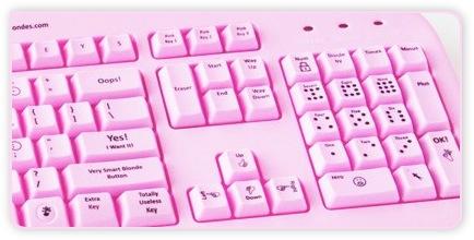 Tastatur für Blondinen