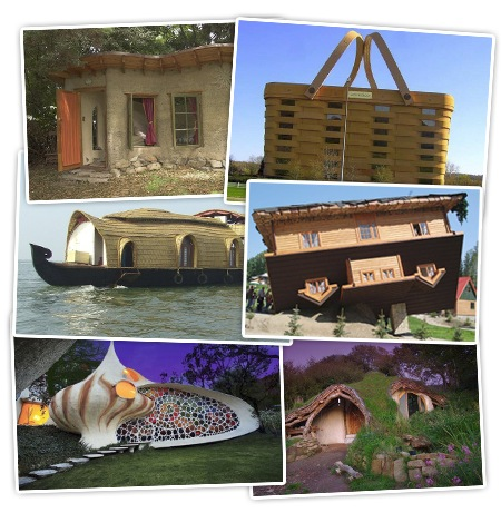 merkwürdige Gebäude Formen