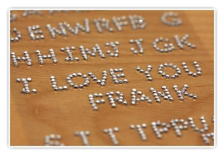 Ich liebe Dich Schatz! - (ein Bild von einem Schriftzug mit Glitzersteinen)