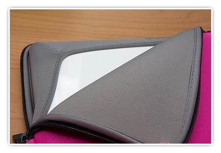 MacBook Tasche in Pink von innen