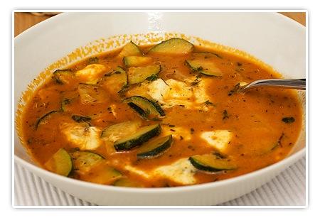 Zucchini mit Mozarella