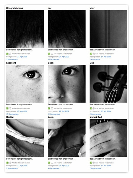 Flickr Fotostream