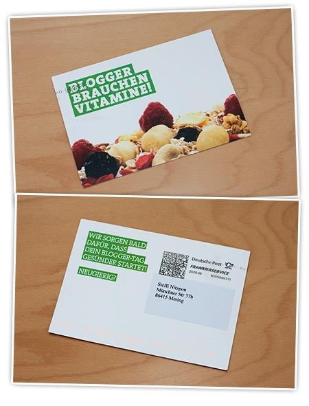 Blogger brauchen Vitamine - Postkarte