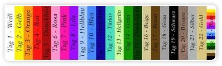 Farbpalette für Projekt - Farbe bekennen