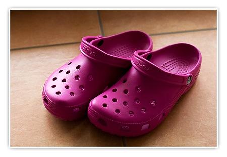 pinke Crocs