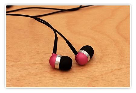 Pinke In-Ear-Ohrstöpsel