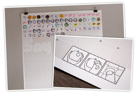 Kalender Design - Apfel Sticker