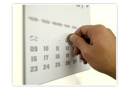 Kalender Design - Rubbeln