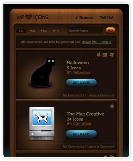 Kostenlose Icons für Mac und windows und als png