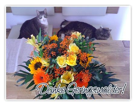Blumenstrauss zum Geburtstag aus Geringswalde