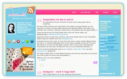 Screenshot von Zuckernadel.de