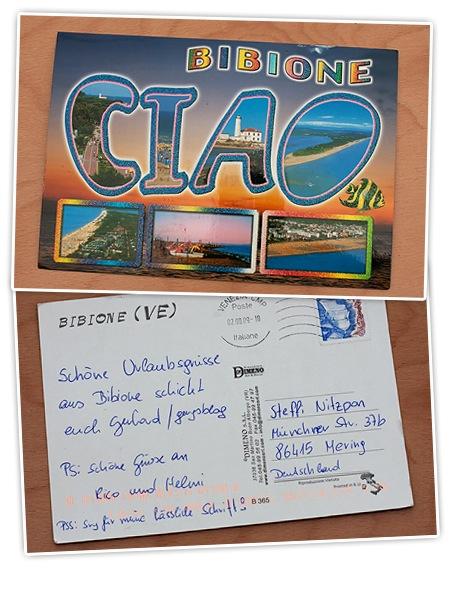Postkarte aus Italien von Gery
