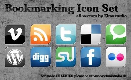 Social Media Icons zum kostenlosen downloaden