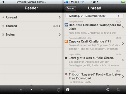 Apptip - iPhone - Reeder