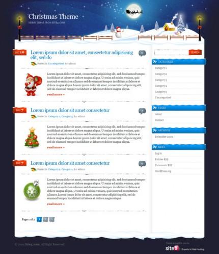 Kostenloses Christmas Theme für WordPress