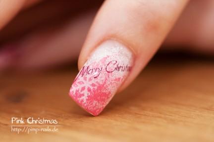 pink Christmas - Naildesign - Merry Christmas
