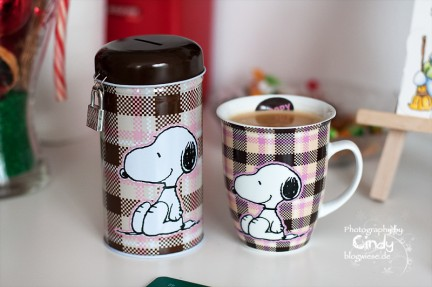 Snoopy Spardose und Snoopy Kaffeetasse