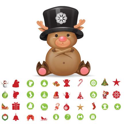 weihnachtliches Icon-Set