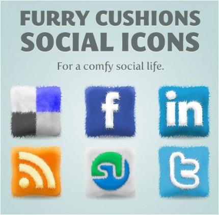 kostenlose Social Media Icons zum kuscheln
