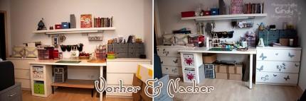 Wandtattoo - Vorher & Nacher