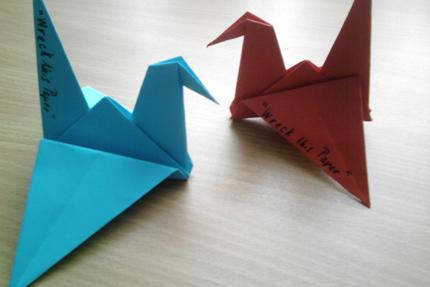 Kraniche - Origami